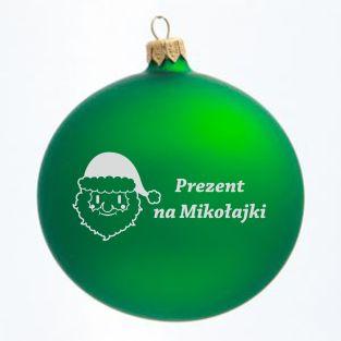 Santa Clous on the green bauble