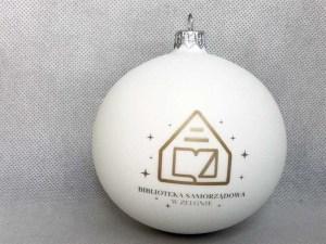 producent bombek, bombki z logo, bombka biała