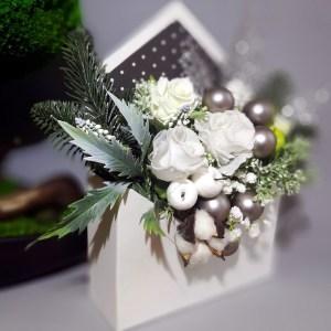 Flower box koperta Biel na święta