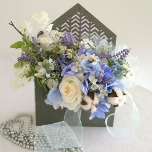 Flower box koperta Błękitne niebo