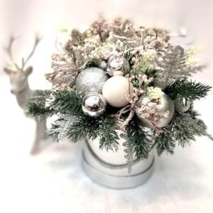 Srebrny flower box nr. 106