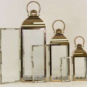 Lampiony metalowe 3 sztuki
