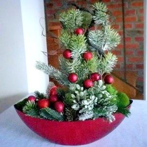 Dekoracja świąteczna Bordo