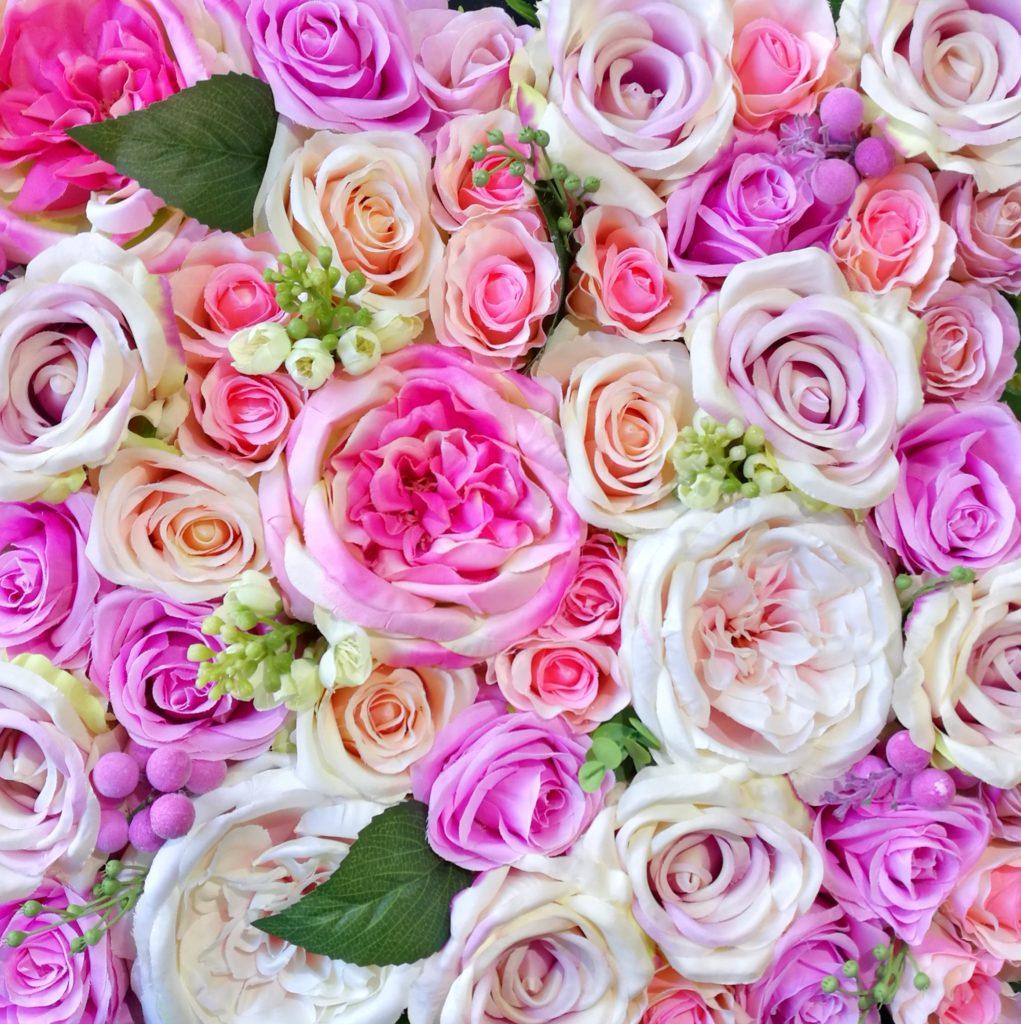Ściana kwiatowa Pastelowa Radość