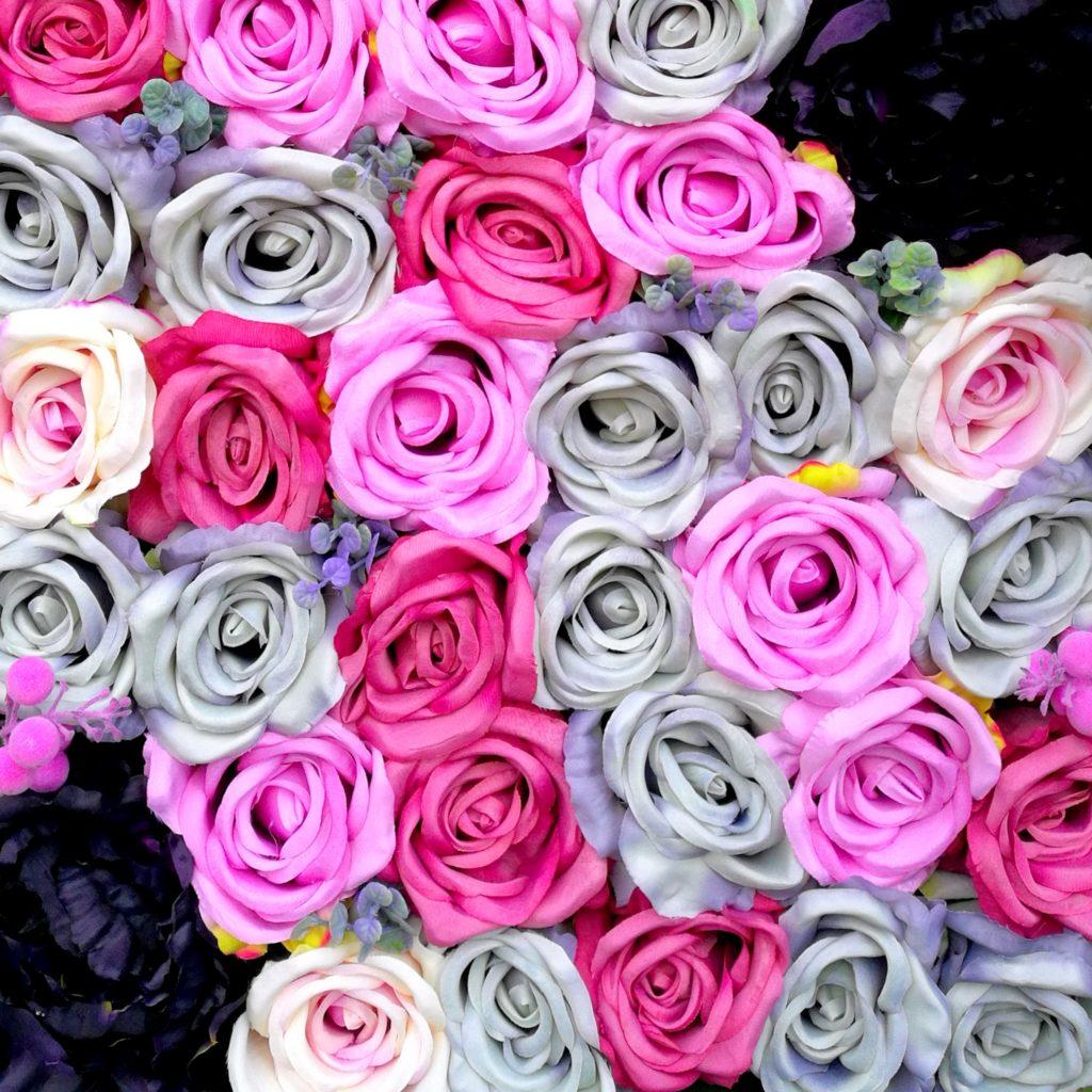 Ściana kwiatowa Różowy Świt 1m x 1m