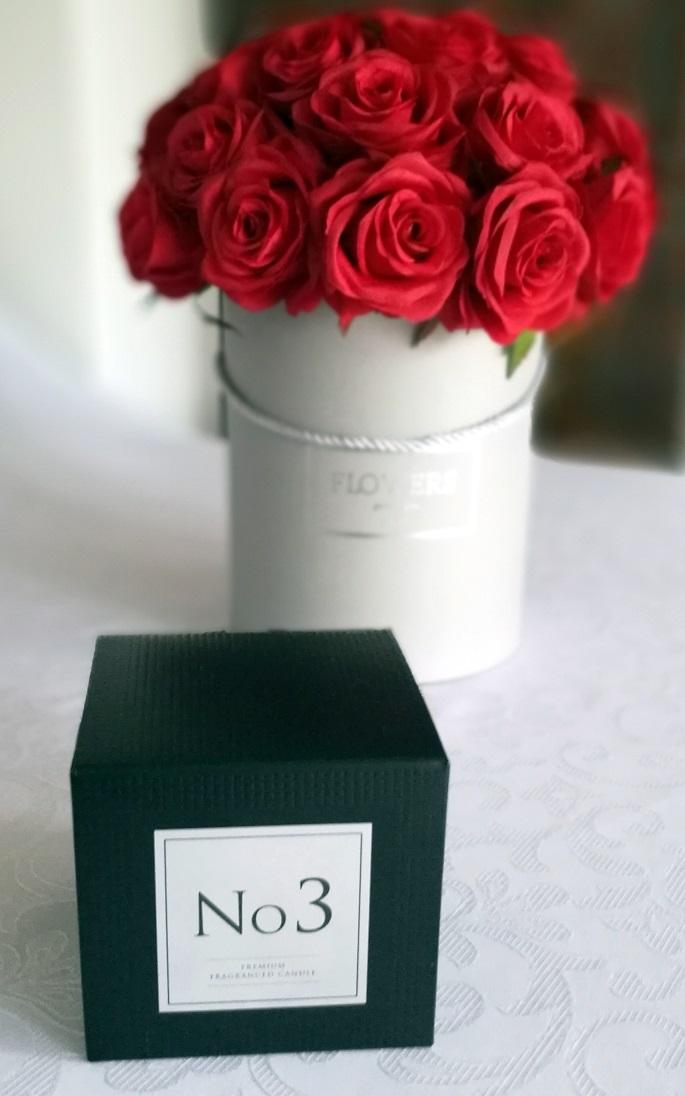 Flower box czerwone róże nr. 122