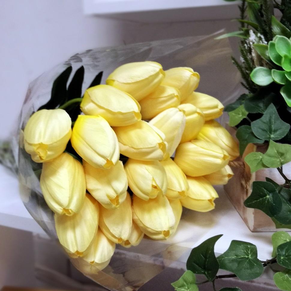 Żółte tulipany bukiet 15 sztuk