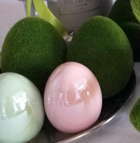 Jajko wielkanocne z porcelany zielone