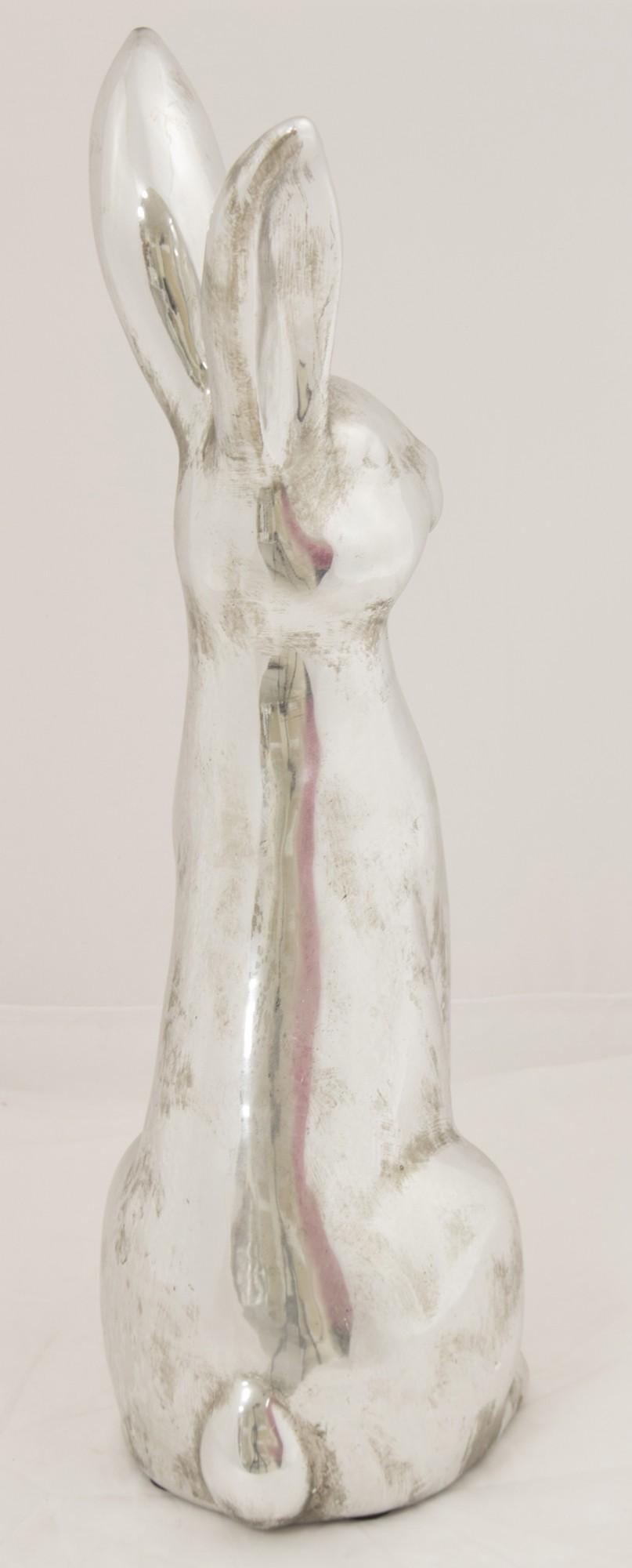 Figurka zając srebrny M