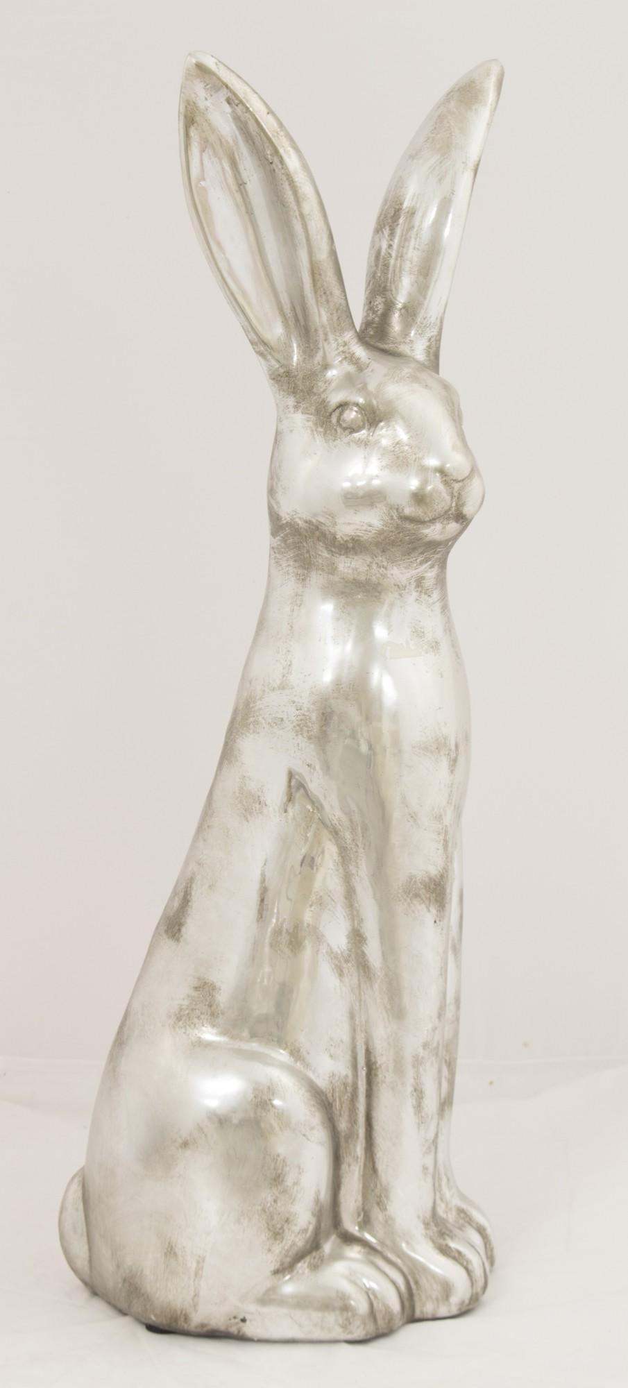 Figurka zając srebrny L