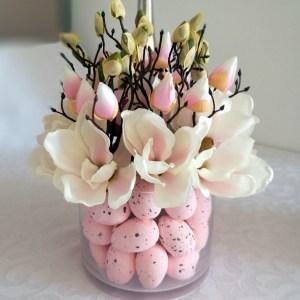 Bladoróżowa magnolia w szkle nr. 197