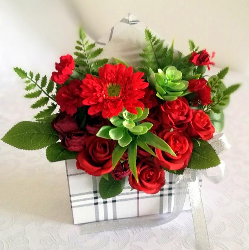 Flower box koperta Kwiaty w czerwieni