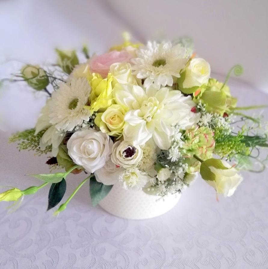 Flower box biało-zielony nr. 206