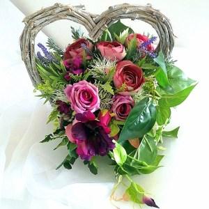Kompozycja nagrobna serce fiolet nr. 165