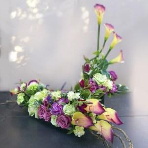 Przepiękny fioletowy zestaw nagrobny nr 222