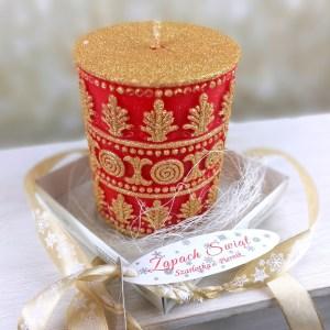 Zapachowa świeca świąteczna czerwona