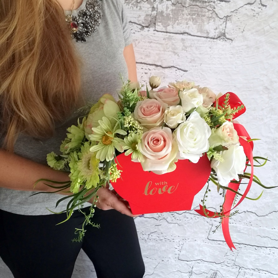 Flower box serce Słodkie chwile nr 325