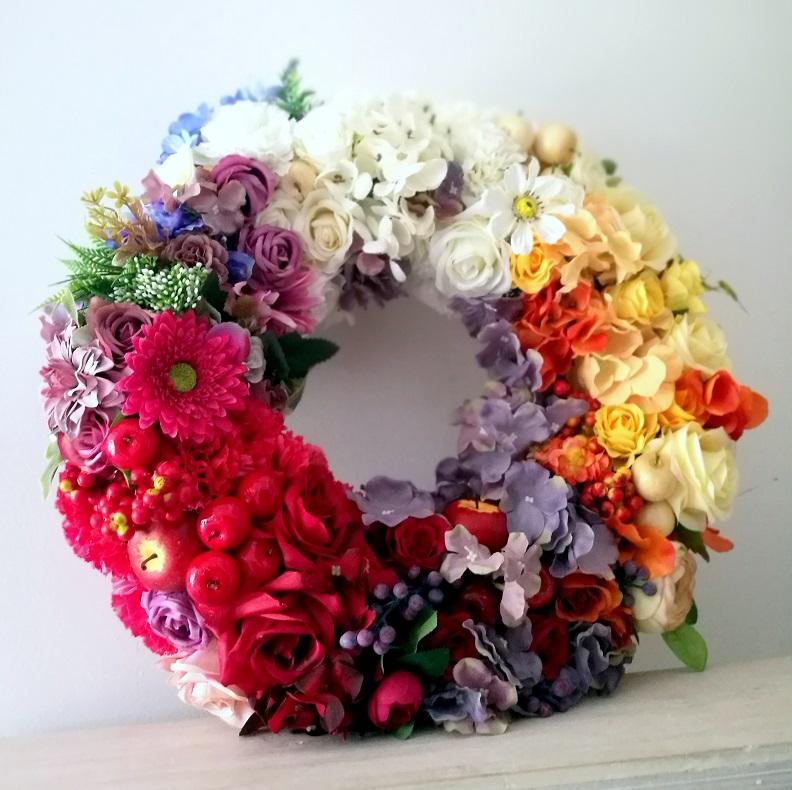 Tęczowy Wianek kwiatowy nr 134