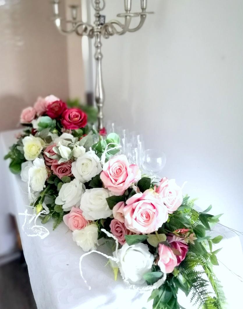 Girlanda kwiatowa Romantyczne róże nr 357