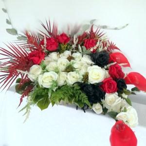 Dekoracja na cmentarz Czarne róże nr 372