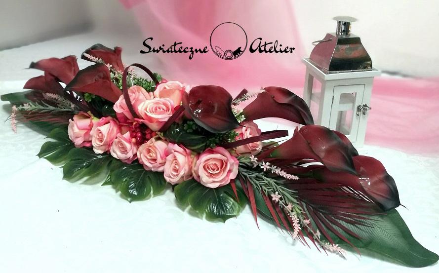 Stroik nagrobny Różowy świt nr 394
