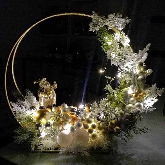Dekoracja świąteczna Złote Święta nr 386