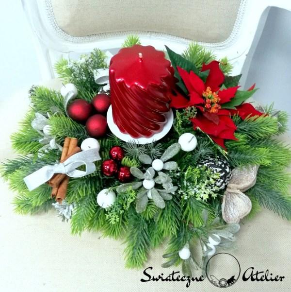 ozdoby świąteczne ze świecami