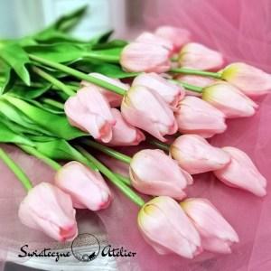 Gumowy tulipan różowy