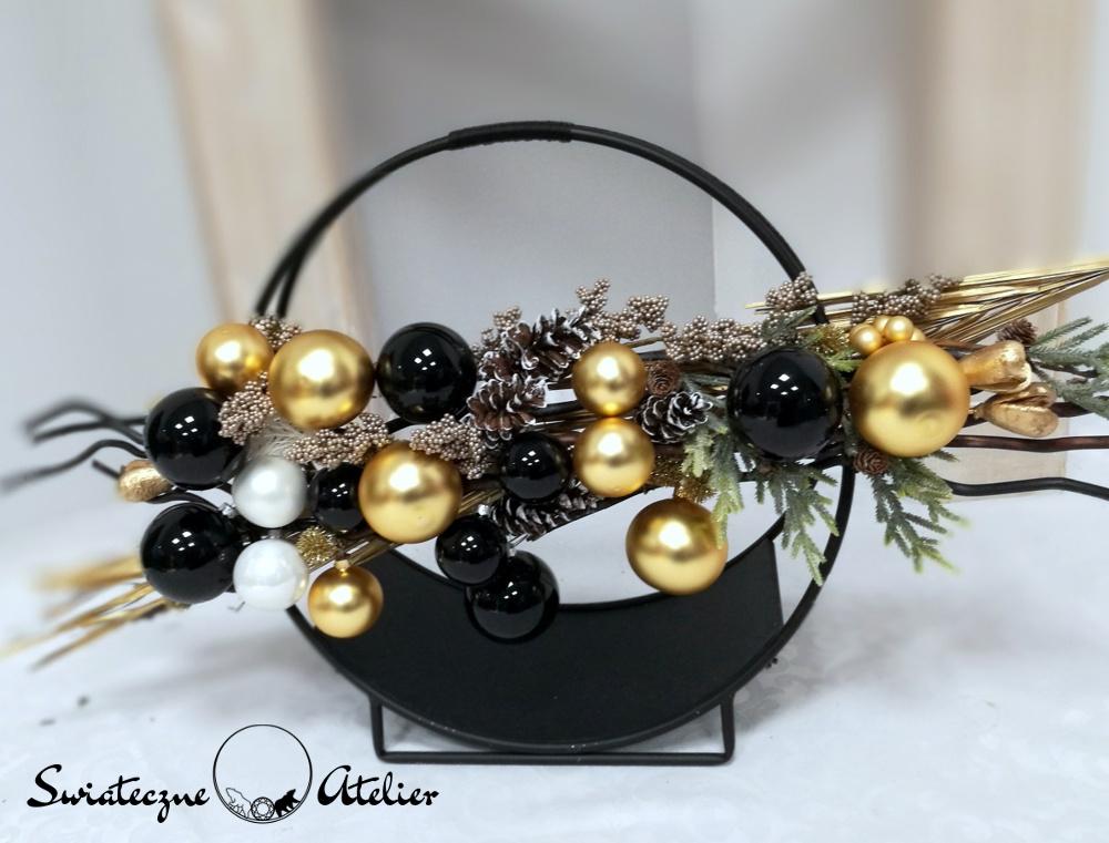 Dekoracja świąteczna Złoto i czerń nr 395