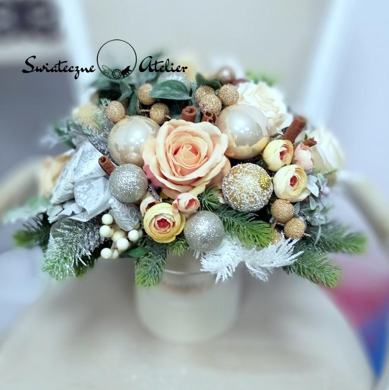 Świąteczny flower box Wanilia z cynamonem nr 396