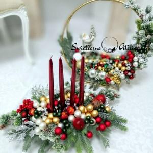 Okrąg i stroik Klasyczne Święta nr 403