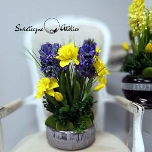Tulipany i hiacynty w wiosennej kompozycji nr 426