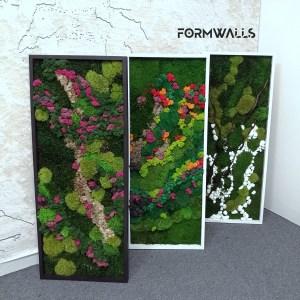 Obraz z mchów stabilizowanych typu Fantazja 100 x 40 cm