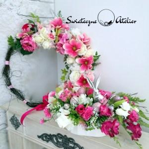 Wianek wiosenny z magnolią nr 158