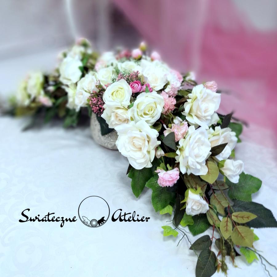Stroik nagrobny Białe róże nr 441