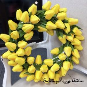 Wianek wiosenny z żółtymi tulipanami nr 166