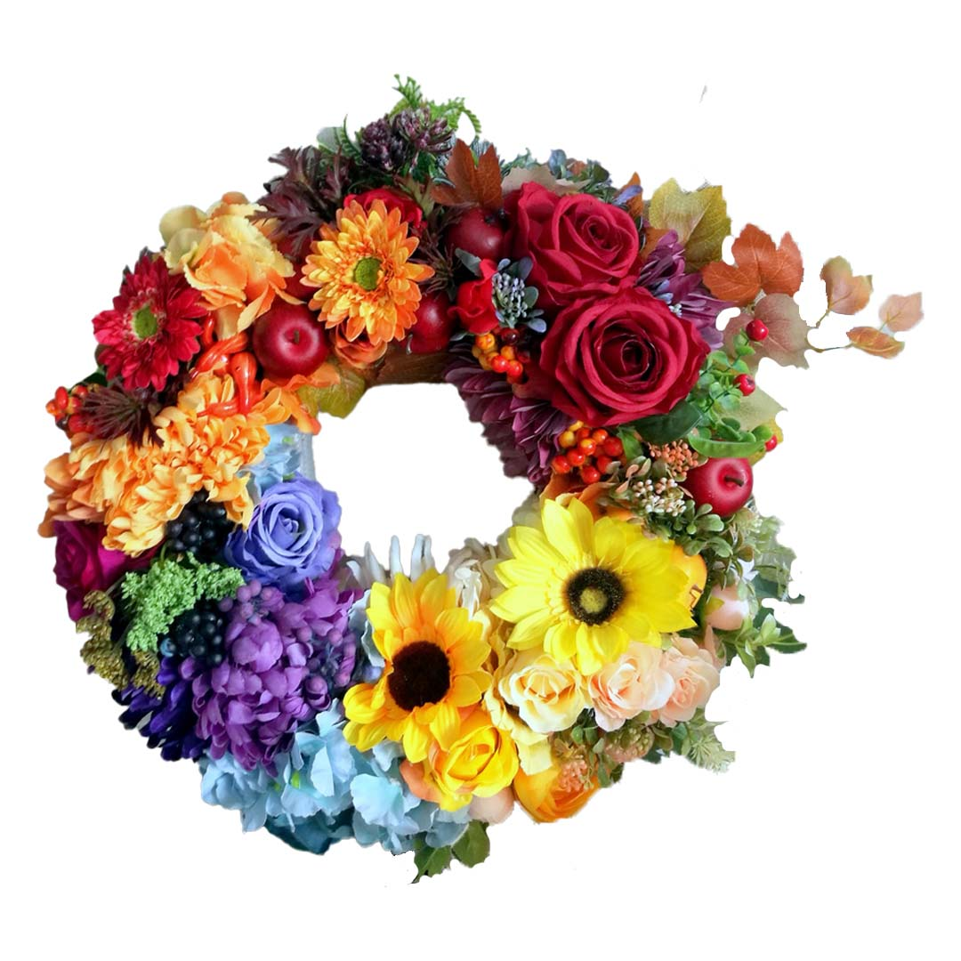 Wianek kwiatowy jesienne nutki nr 177