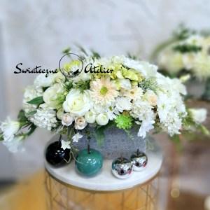 Dekoracja kwiatowa Białe kwiaty nr 512