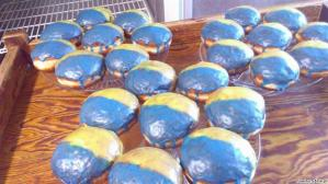 Żółto-modre kreple i ślonsko godka