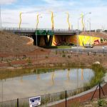 Great Eastern and Roe Hwy Interchange chainmesh fencing