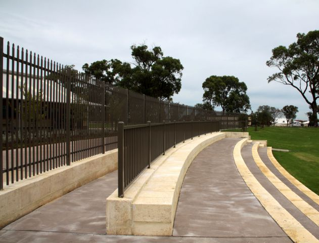 Pearsall Primary School security fencing and balustrade