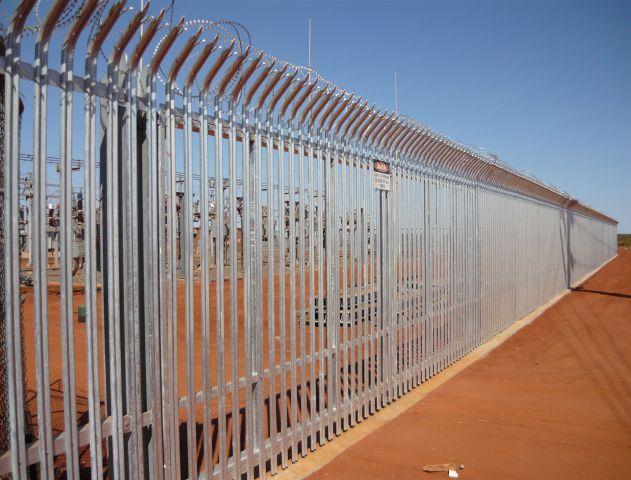 Wedgefield Substation palisade fencing