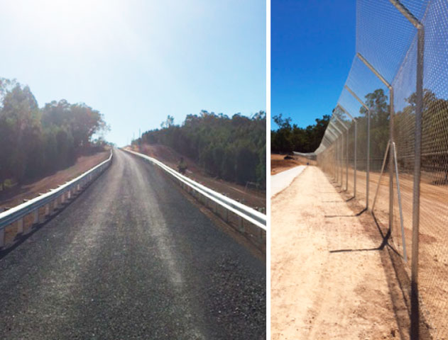 north bannister waste facility fencing and guardrail