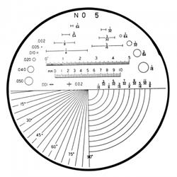 Mitutoyo Reticle Comparator Angle, Radius, Length