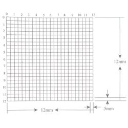 KR438 Grid Reticle 576 Squares 12mm x 12mm