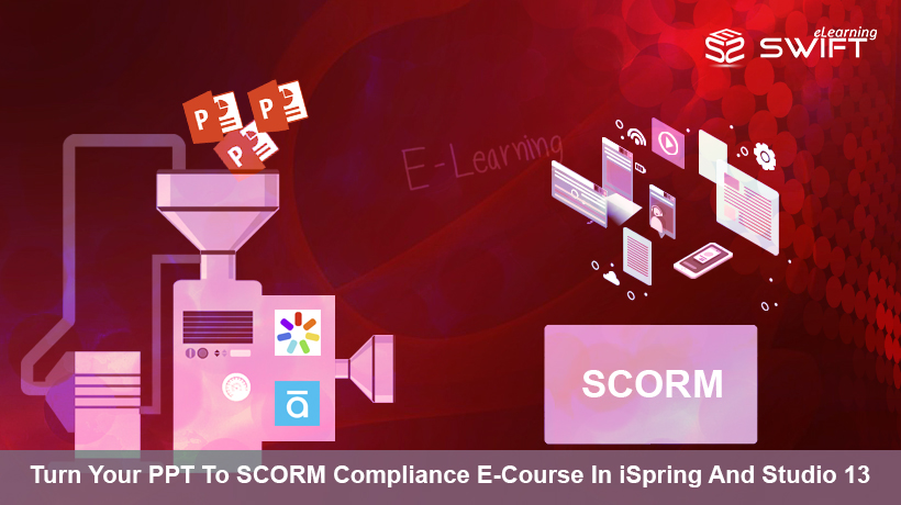 Convert PPT presentation into a SCORM course with iSpring and Studio 13