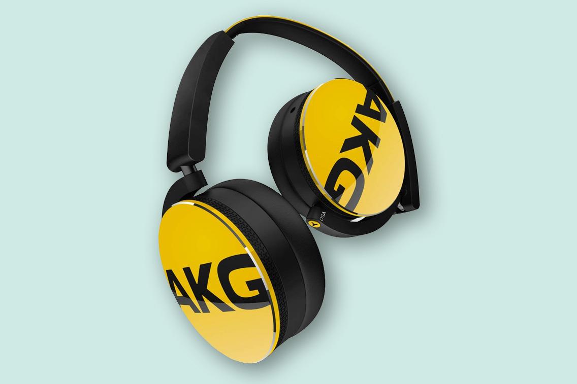 AKG Y50BT Yellow Wireless Headphones