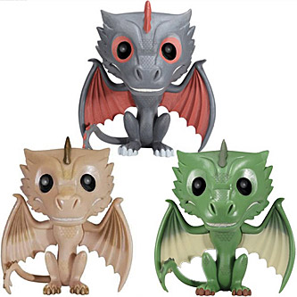 Funko Pop Game of Thrones 3 Pack Drogon Viserion and Rhaegal