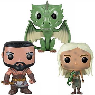 Funko Pop Game of Thrones 3 Pack Khal Khaleesi and Rhaegal