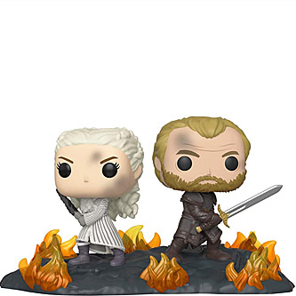 Funko Pop Game of Thrones 86 Daenerys and Jorah at the Battle of Winterfell Movie Moments